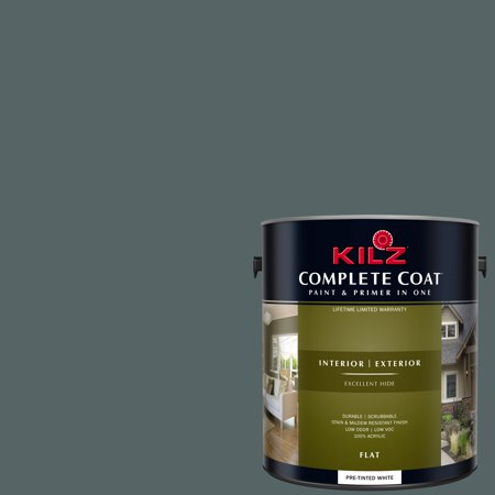 - KILZ COMPLETE COAT Interior/Exterior Paint & Primer in One #RM150 Charcoal