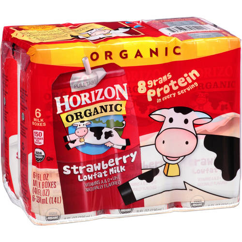 Horizon Organic Strawberry Organic Lowfat Milk, 8 fl oz, 6 ct
