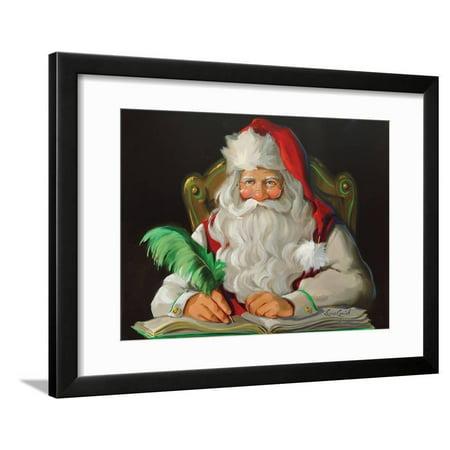 Naughty or Nice Santa Claus Christmas Portrait Art Framed Print Wall Art By Susan Comish](Santa Claus Naughty Or Nice List)