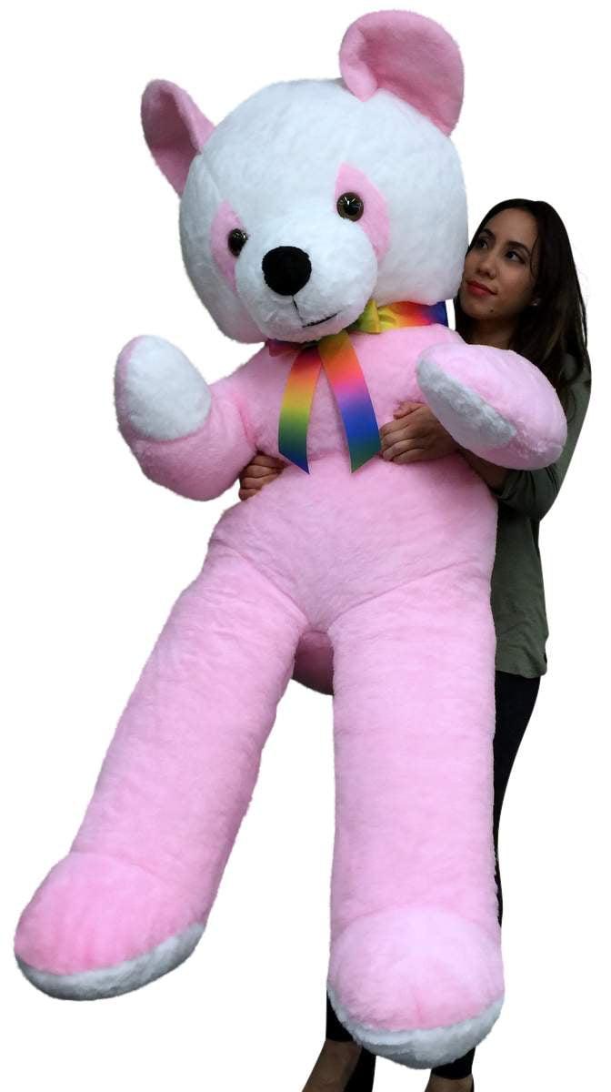 American Made Giant Soft Stuffed Pink Panda 6 Foot Bear 72 Inch