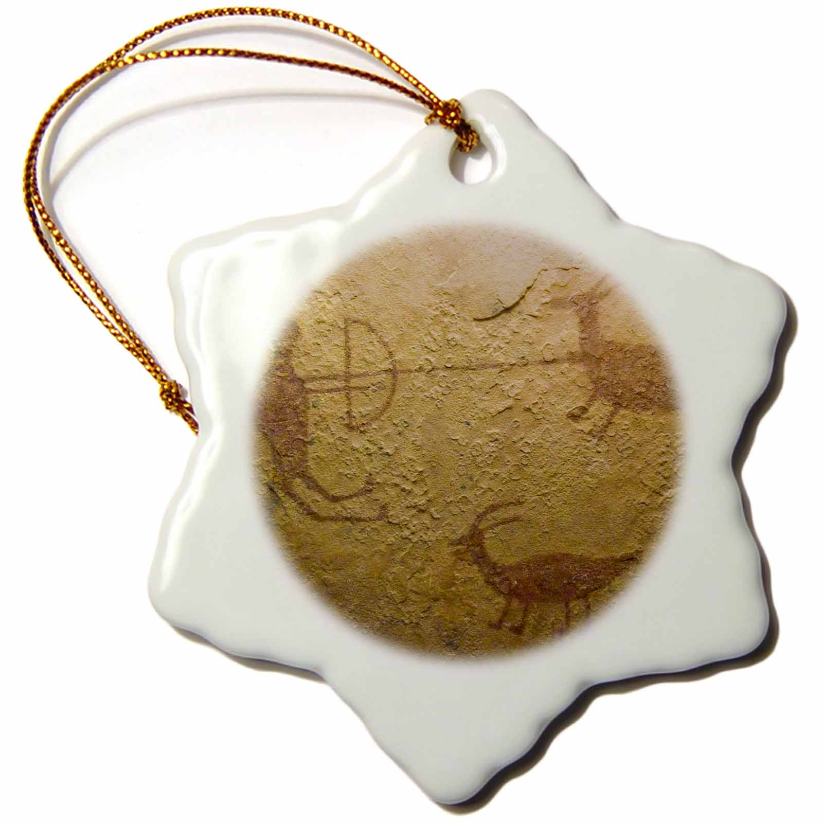 3dRose Pictograph, Canyon deChelly NP, Native American - US32 AWY0005 - Angel Wynn - Snowflake Ornament, 3-inch