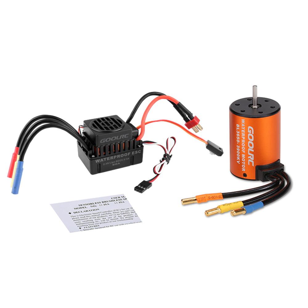 AM/_ 45A 60A 80A 120A ESC Or 3900KV Splashproof Brushless Motor for 1:10 RC Car T