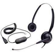 Jabra GN2115 Duo ST Corded Headset (Replaced by GN2125 Duo) & GN1200 Cable w/ ATL Tech & Swing Away Boom