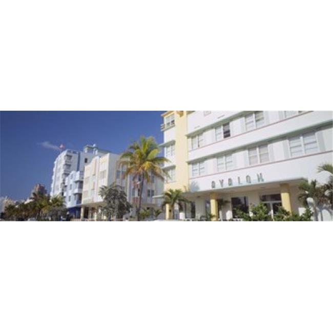 Panoramic Images PPI58003L Art Deco Hotels  Ocean Drive  Florida  USA Poster Print by Panoramic Images - 36 x 12 - image 1 of 1