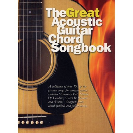 The Great Acoustic Guitar Chord Songbook (Paperback) - Walmart.com