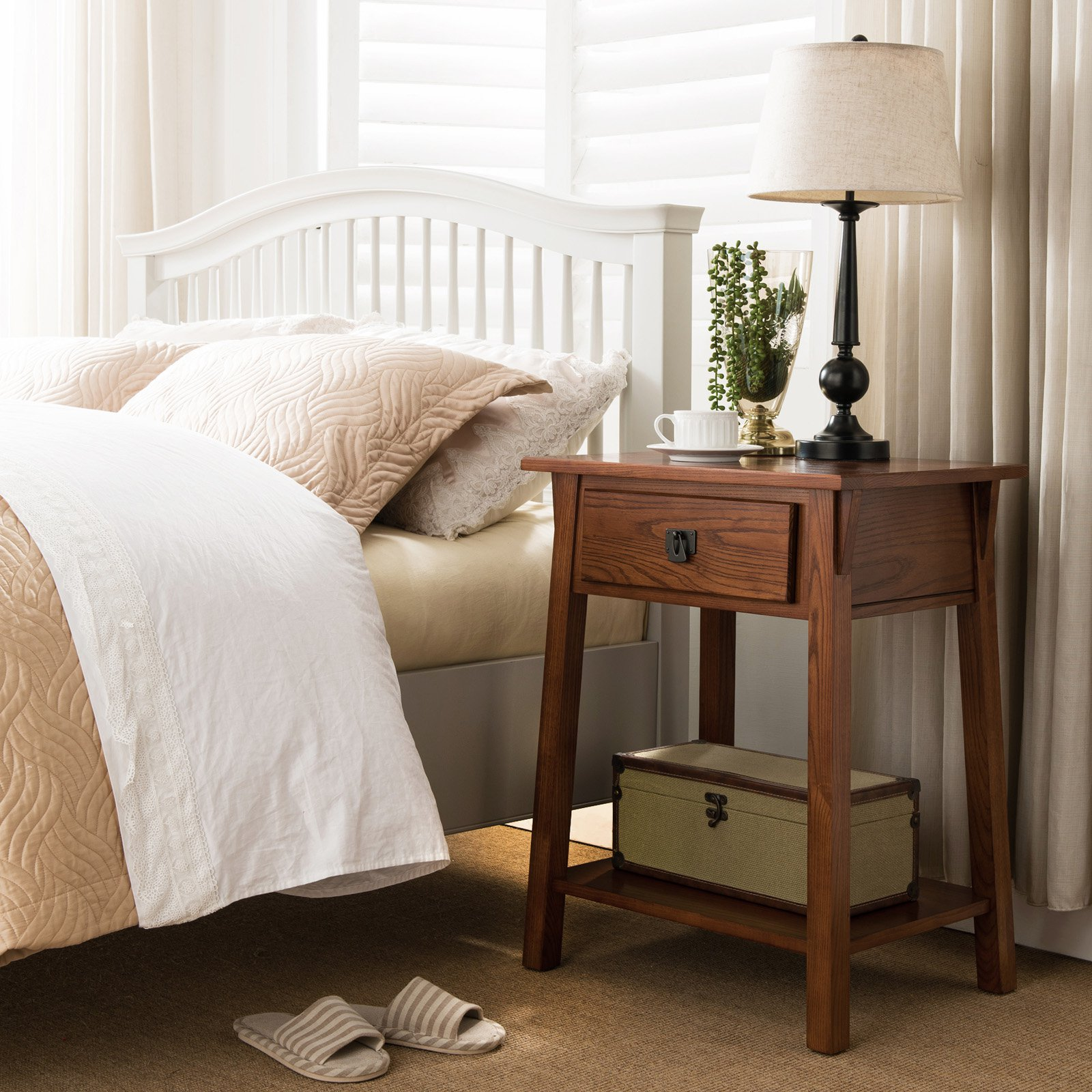 Leick Home 1 Drawer Mission Night Stand