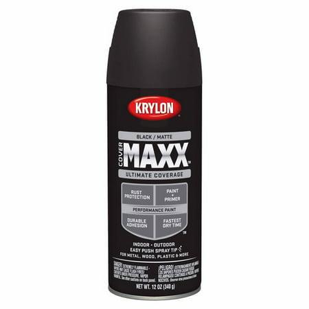 Krylon covermaxx matte black for Matte black car paint price
