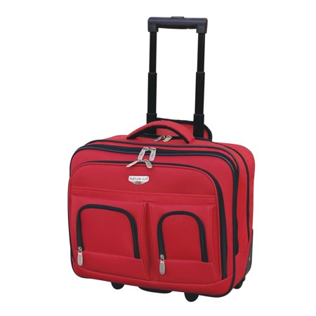 Travelers Club Luggage 17; 2-Section Rolling Briefcase w/ Padded Laptop Compartment
