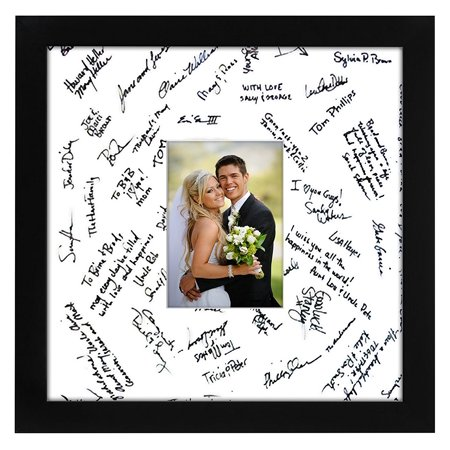 14x14 Black Wedding Frame Fits 5x7 Photo Wmat 14x14 Wout Mat
