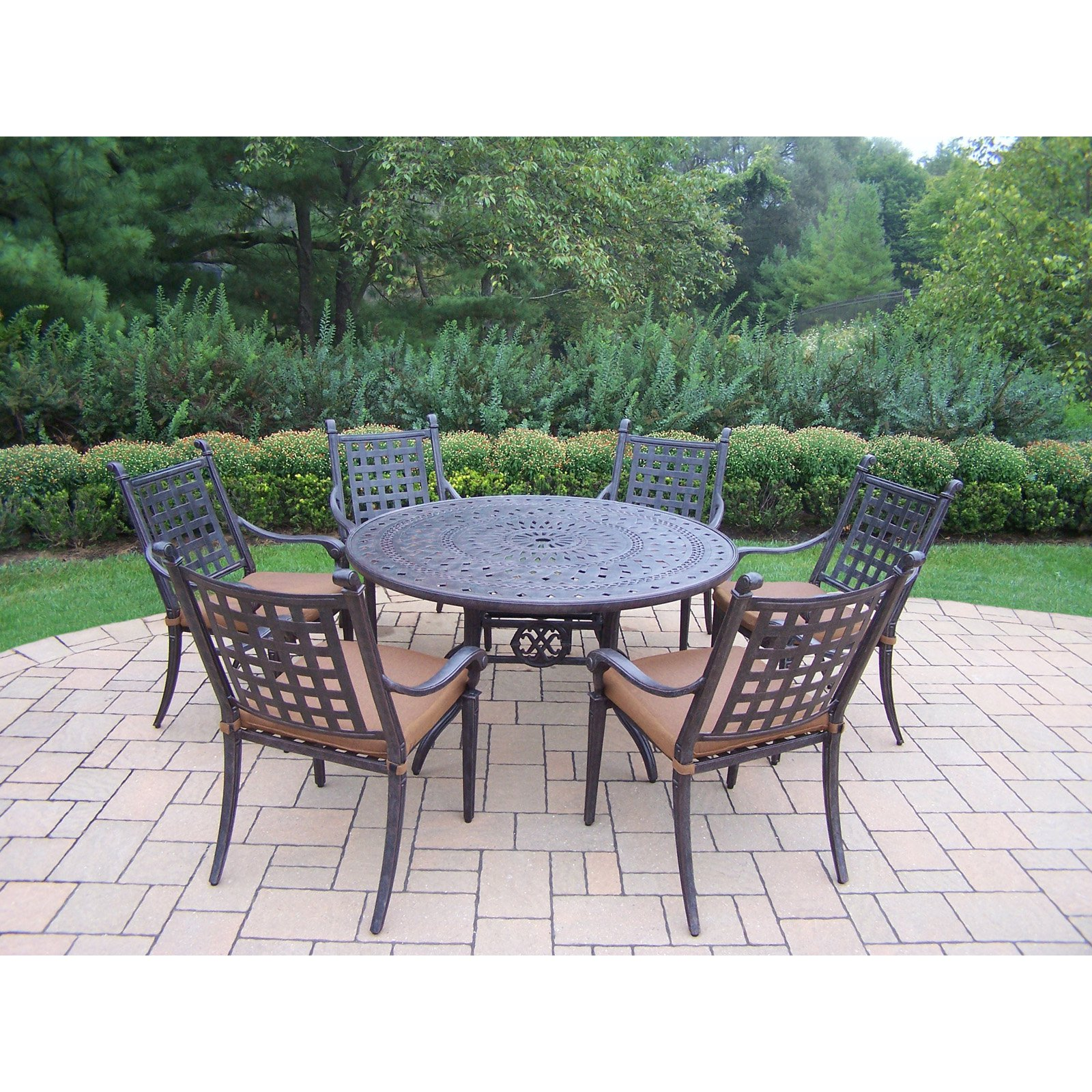Oakland Living Belmont 7 Piece Round Patio Dining Room Set by Oakland Living Corp