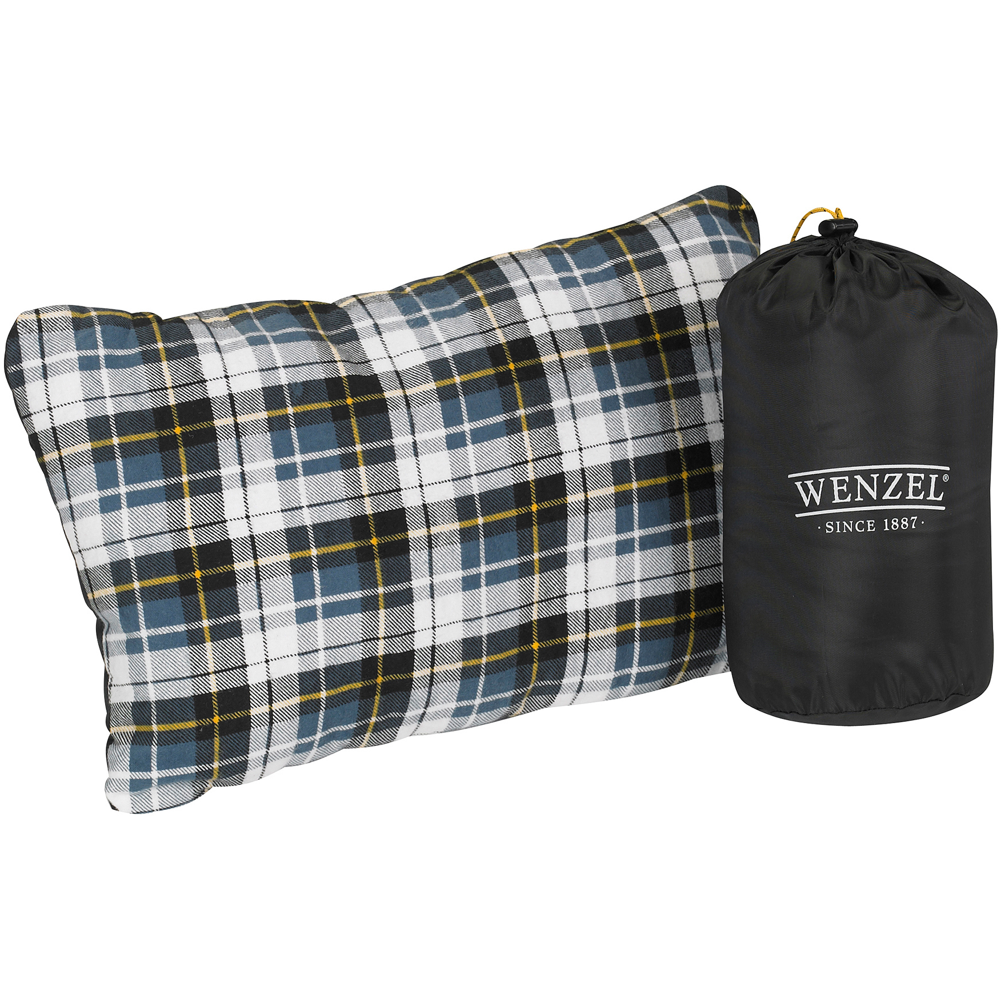 Wenzel Camping Pillow, Blue Plaid