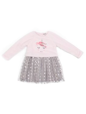 Little Lass Unicorn Sherpa Tutu Dress (Little Girls)