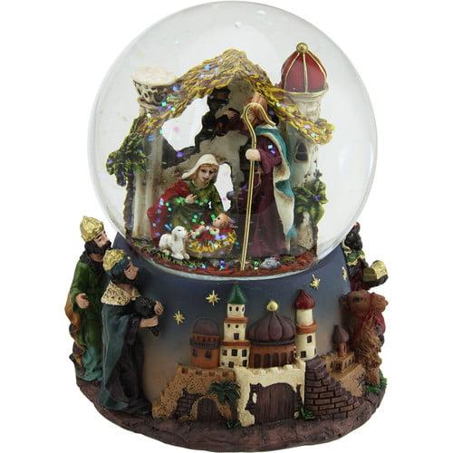 The Holiday Aisle Nativity Scene Religious Inspirational Musical Christmas Snowglobe