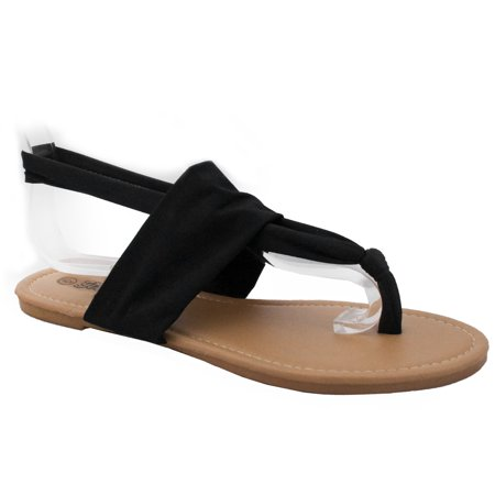 422b2f881bff SNJ - Women s Yoga Flip Flop Sling Gladiator Slingback Flat Thong Sandal  (FREE SHIPPING) - Walmart.com