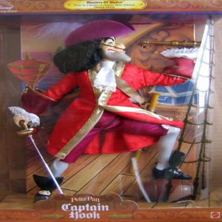 Peter Pan CAPTAIN HOOK Disney Collector Doll Limited Edition Masters Of Malice (1999)
