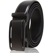 Genuine Leather Mens Ratchet Belt - Belts For Men With Adjustable Automatic Buckle