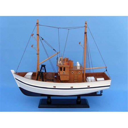 Handcrafted model ships fb205 fisher king 18 inch for Walmart fishing boats