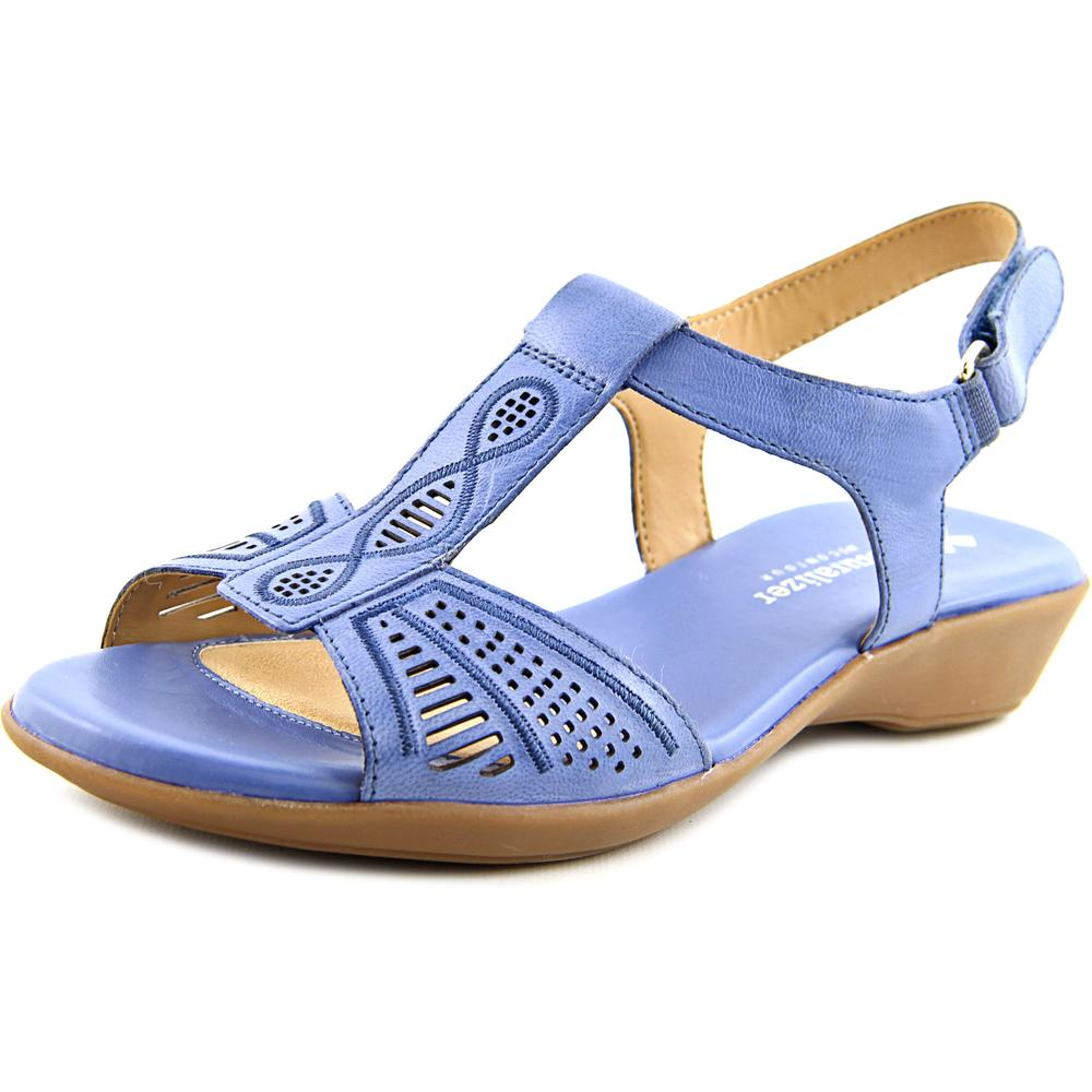 Naturalizer Network Women N S Open-Toe Leather Slingback Sandal by Naturalizer