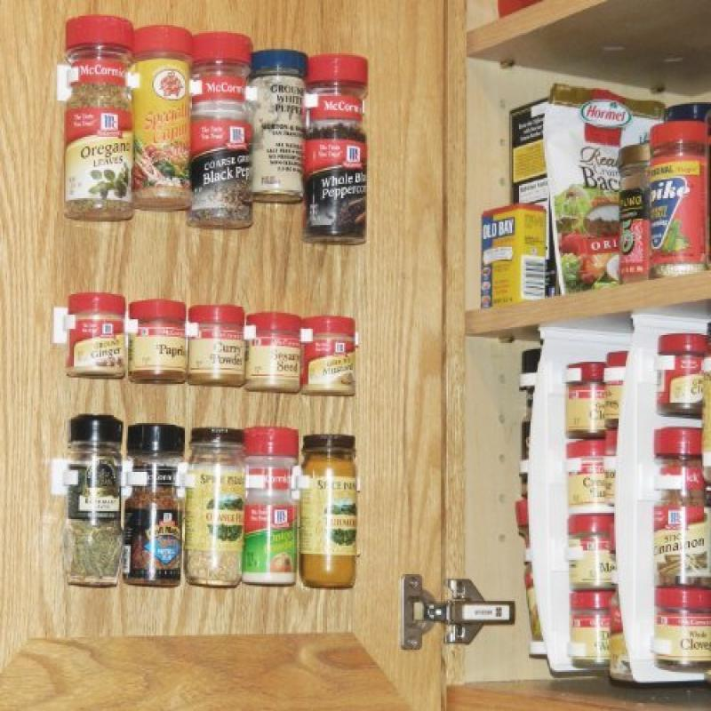 Home-it Spice Rack, Spice Racks for 20 Cabinet Door, Use Spice Clips for