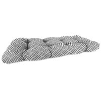 Mainstays Grey Herringbone Outdoor Patio Wicker Settee Cushion
