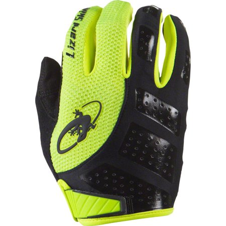 Lizard Skins Monitor SL Gloves: Jet Black/Neon XL