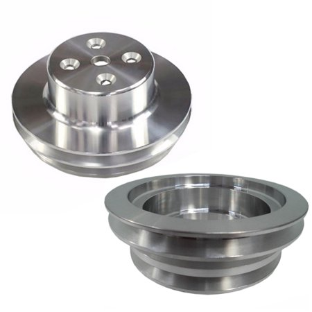 Double Groove Long Water Pump Pulley & CRANKSHAFT PULLEY 3 GROOVE LWP (Double Groove Crank)