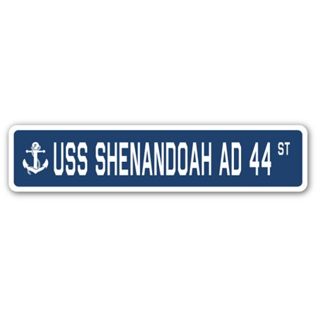 Uss Shenandoah Ad 44 Street  3 Pack  Of Vinyl Decal Stickers   1 5   X 7    Indoor Outdoor   Funny Decoration For Laptop  Car  Garage   Bedroom  Offices   Signmission