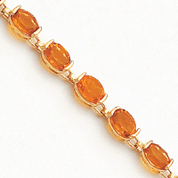 14k Yellow Gold 7in Citrine Bracelet by