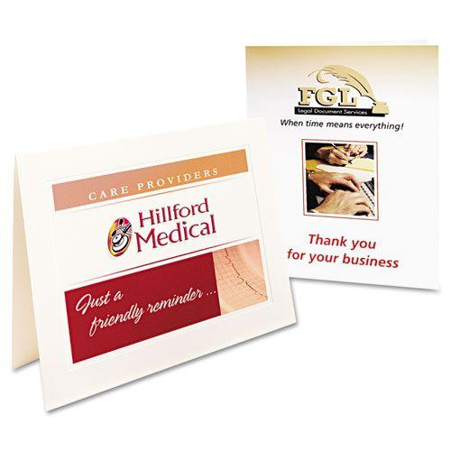 Printer-Compatible Cards, 4-1/4 x 5-1/2, Two per Sheet, 60/Box with Envelopes