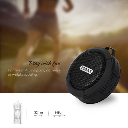 OCDAY C6 Plastic Portable Wireless Speaker With Calls Handsfree and Suction Cup Waterproof Shower Speaker - image 4 of 4