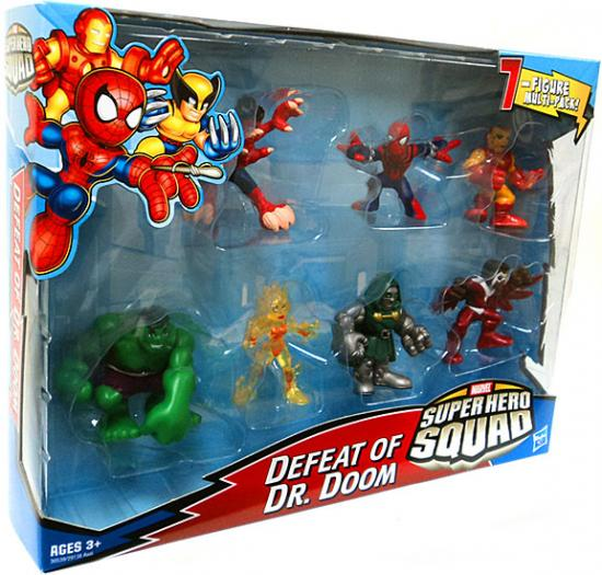 Hasbro Marvel Super Hero Squad Defeat of Dr. Doom Action ...