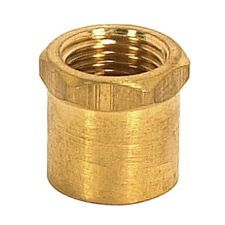 Satco Brass Coupling Unfinished 1/2in Long Hexagon Head Coupling 1/8 IP