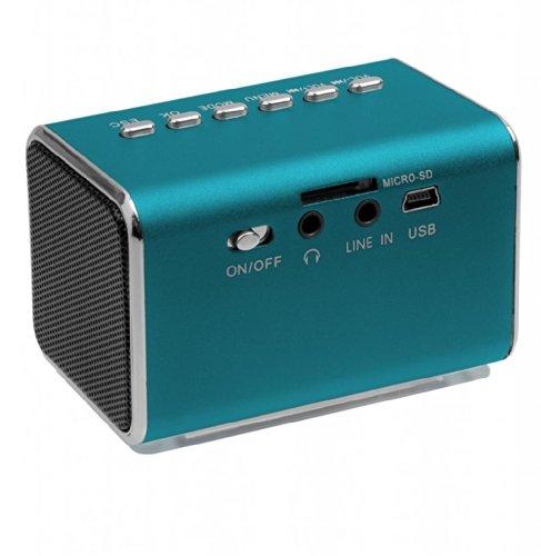 Jumbl Mini Hidden Spy Camera Radio Clock w/Infrared Night Vision - Blue