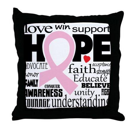 Breast Cancer Decor (CafePress - Breast Cancer Words - Decor Throw Pillow)
