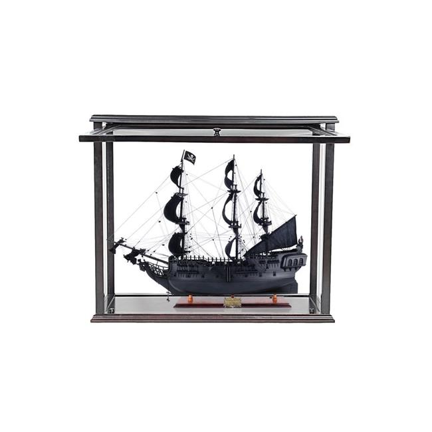 "Small Black Pearl Caribbean Pirate Tall Ship Wood Model 20/"" Fully Assembled New"