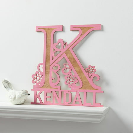 Boy Name Plaque (Her Name Personalized Pink Wood Plaque )