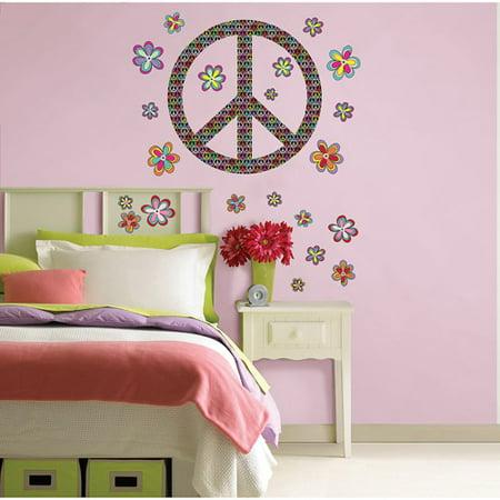 wallpops peace wall art decals. Black Bedroom Furniture Sets. Home Design Ideas