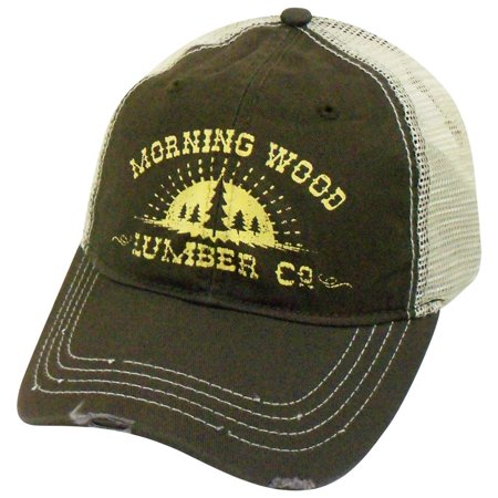 69d88499 Morning Wood Lumber Co. Adjustable Snap Back Trucker Mesh Hat Cap H3 ...