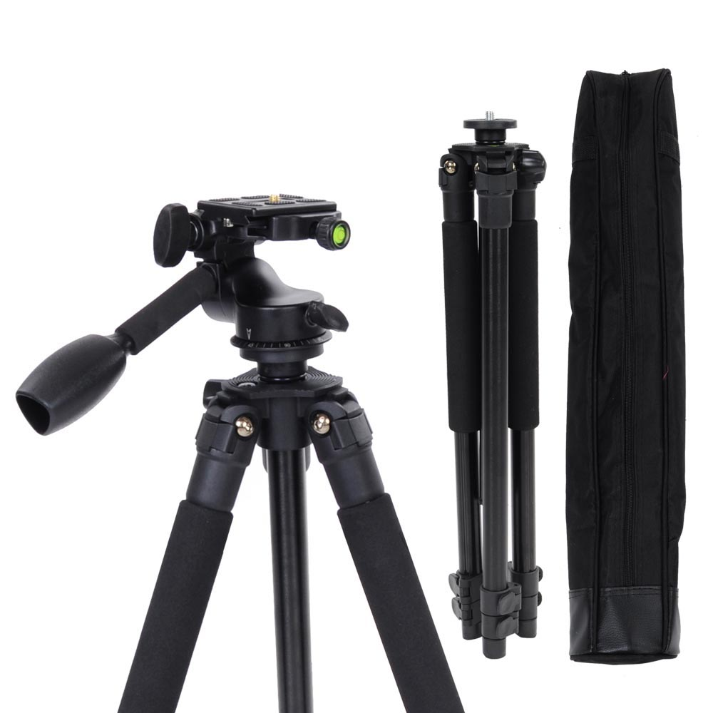 "Pro Adjustable 58"" Aluminium Tripod Stand w/ Ball Head Travel Bag For DSLR Camera Outdoor"