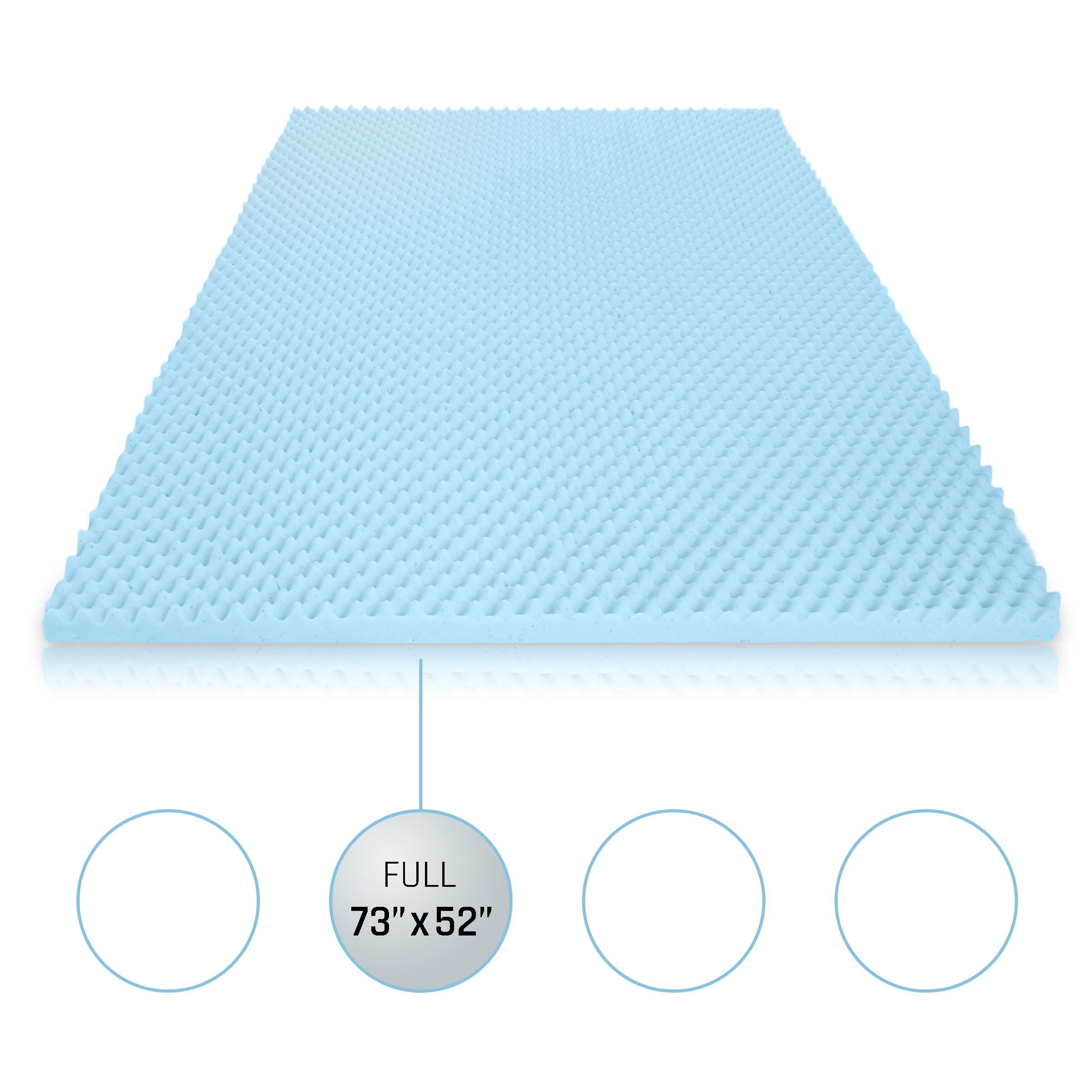 Milliard 2in. Egg Crate Gel Memory Foam Mattress Topper ...