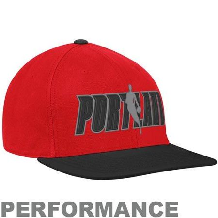 Adidas NBA Basketball Portland Trailblazers Flat Brim Flex Fit Hat Cap, (Basketball Cap)