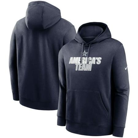 Dallas Cowboys Nike Fan Gear Local Club Pullover Hoodie - Navy