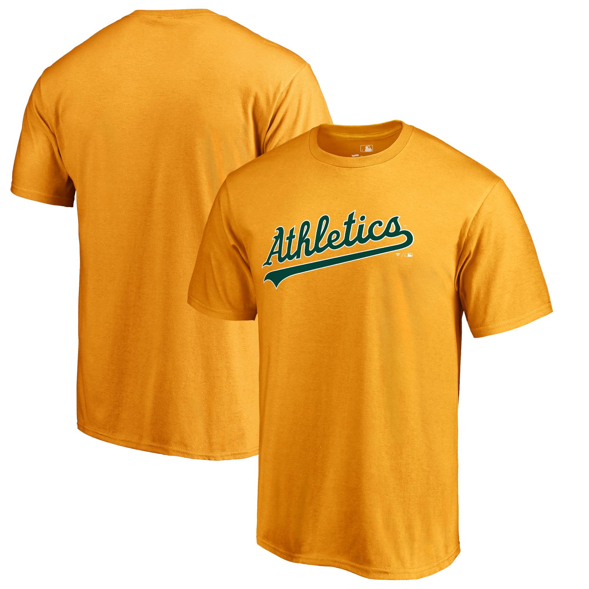 Oakland Athletics Fanatics Branded Team Wordmark T-Shirt - Gold