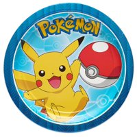 American Greetings Pokemon Party Supplies Paper Disposable Dessert Plates, 8-Count