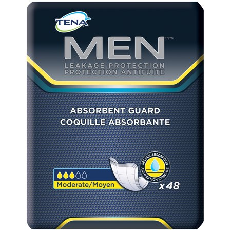 Tena Incontinence Guards For Men  Moderate Absorbency  48 Count