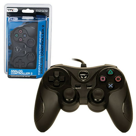 (TTX Tech Wired Analog Controller For Sony PlayStation 1 & 2 PS1/PS2, Black)