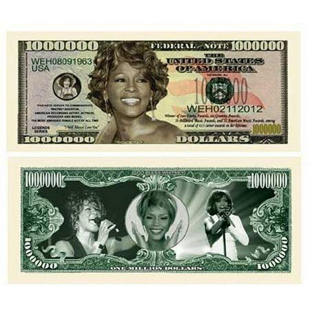 "25 Whitney Houston Million Dollar Bills with Bonus ""Thanks a Million"" Gift Card Set - Halloween City 25 Off Coupon"