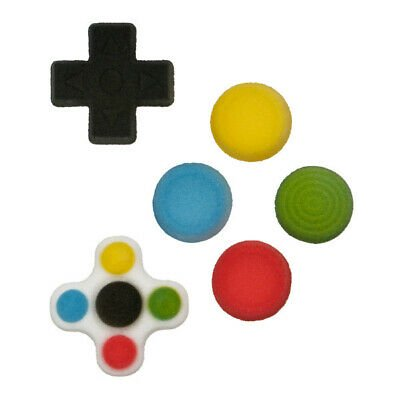 Cake Decorating Video - Video Game Controller Gamer Buttons Edible Sugar Decorations - 12 Count - 49593 - National Cake Supply