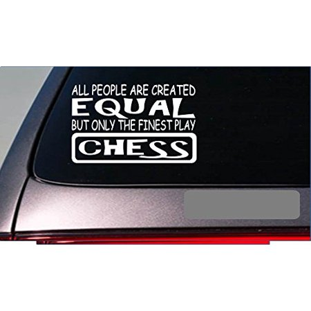 "Chess master equal Sticker *G626* 8"" Vinyl board pawn marble chess set"