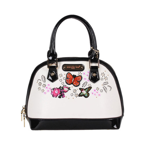 Women's Nicole Lee Visola Butterfly Embroidered Mini Dome...